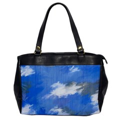 Abstract Clouds Oversize Office Handbag (One Side)