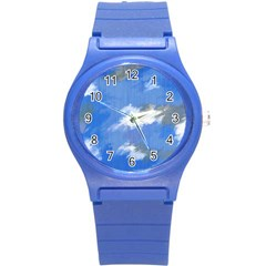 Abstract Clouds Plastic Sport Watch (small)