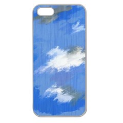 Abstract Clouds Apple Seamless Iphone 5 Case (clear)