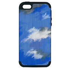 Abstract Clouds Apple iPhone 5 Hardshell Case (PC+Silicone)