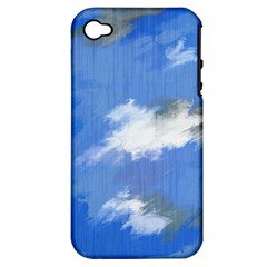 Abstract Clouds Apple Iphone 4/4s Hardshell Case (pc+silicone)