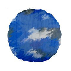 Abstract Clouds 15  Premium Round Cushion