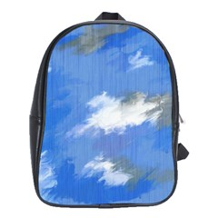 Abstract Clouds School Bag (xl)