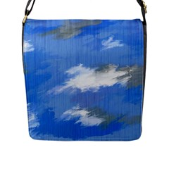 Abstract Clouds Flap Closure Messenger Bag (Large)