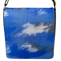 Abstract Clouds Flap Closure Messenger Bag (small)