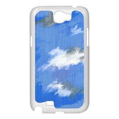 Abstract Clouds Samsung Galaxy Note 2 Case (White)