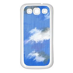 Abstract Clouds Samsung Galaxy S3 Back Case (White)
