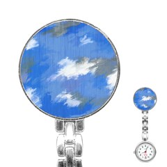 Abstract Clouds Stainless Steel Nurses Watch