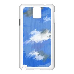 Abstract Clouds Samsung Galaxy Note 3 N9005 Case (white)
