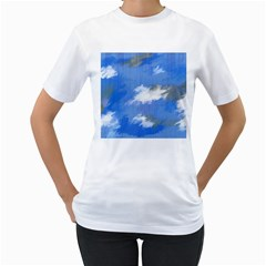 Abstract Clouds Women s T-Shirt (White)