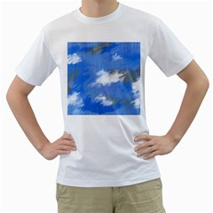 Abstract Clouds Men s T-Shirt (White)