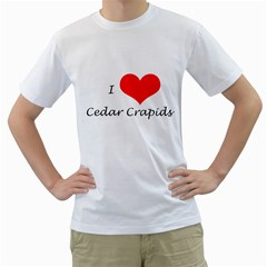 I Heart Cedar Crapids Men s T-Shirt (White)