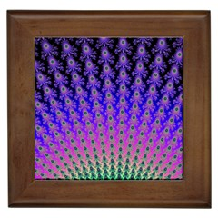 Rainbow Fan Framed Ceramic Tile