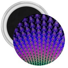 Rainbow Fan 3  Button Magnet