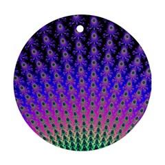 Rainbow Fan Round Ornament