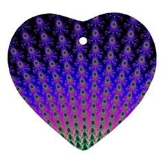 Rainbow Fan Heart Ornament