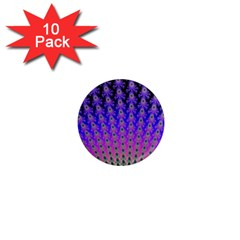 Rainbow Fan 1  Mini Button Magnet (10 pack)