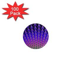 Rainbow Fan 1  Mini Button Magnet (100 pack)