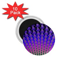 Rainbow Fan 1.75  Button Magnet (10 pack)