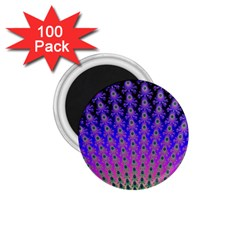 Rainbow Fan 1 75  Button Magnet (100 Pack)