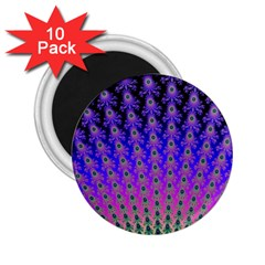 Rainbow Fan 2.25  Button Magnet (10 pack)