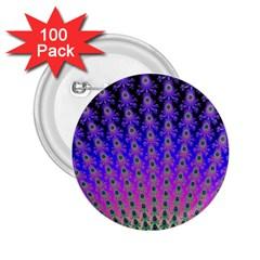 Rainbow Fan 2 25  Button (100 Pack)