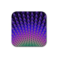 Rainbow Fan Drink Coasters 4 Pack (square)