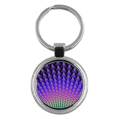 Rainbow Fan Key Chain (Round)