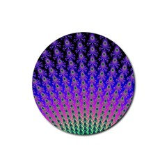 Rainbow Fan Drink Coasters 4 Pack (Round)