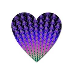 Rainbow Fan Magnet (Heart)