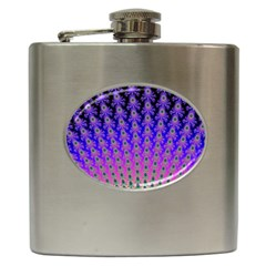 Rainbow Fan Hip Flask