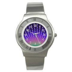 Rainbow Fan Stainless Steel Watch (slim)