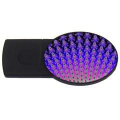 Rainbow Fan 4GB USB Flash Drive (Oval)