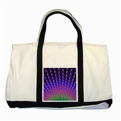 Rainbow Fan Two Toned Tote Bag