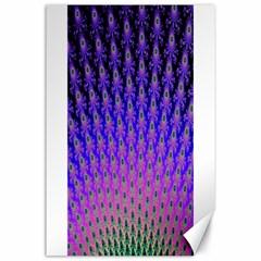 Rainbow Fan Canvas 24  X 36  (unframed)