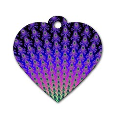 Rainbow Fan Dog Tag Heart (one Sided)