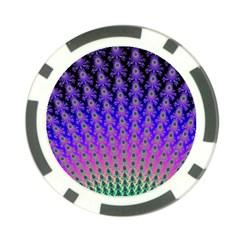 Rainbow Fan Poker Chip (10 Pack)