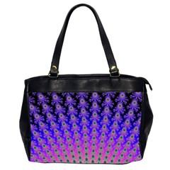 Rainbow Fan Oversize Office Handbag (Two Sides)