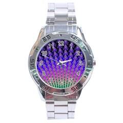 Rainbow Fan Stainless Steel Watch