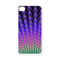 Rainbow Fan Apple Iphone 4 Case (white)