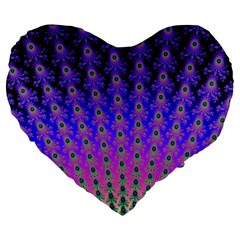 Rainbow Fan 19  Premium Heart Shape Cushion