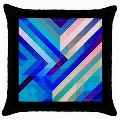 Mermaid s Tail Black Throw Pillow Case