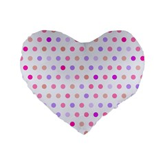 Love Dots 16  Premium Heart Shape Cushion