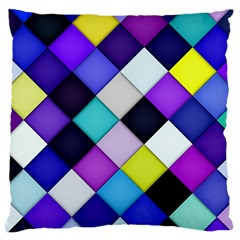 Quilted With Halftone Large Cushion Case (single Sided)