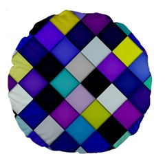 Quilted with halftone 18  Premium Round Cushion
