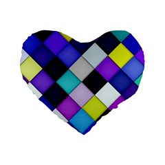 Quilted With Halftone 16  Premium Heart Shape Cushion