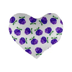 Purple Roses In Rows 16  Premium Heart Shape Cushion