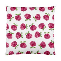 Pink Roses In Rows Cushion Case (two Sided)
