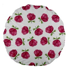 Pink Roses In Rows 18  Premium Round Cushion
