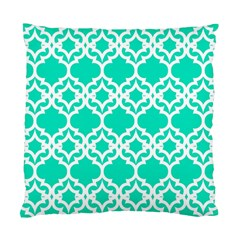 Lattice Stars in Teal Cushion Case (Single Sided)